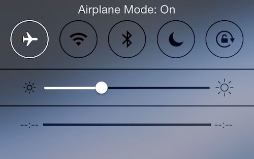iPhone 6 Can't Hear Caller airplane mode