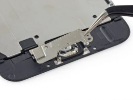 Remove home button bracket