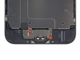 Replace home button bracket screws iPhone