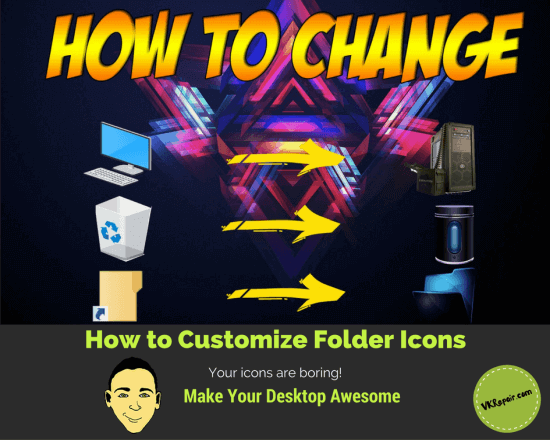 how to change all folder icon in windows 8.1