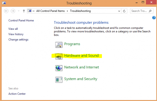 mouse pointer disappears Windows 8 hardware and sound