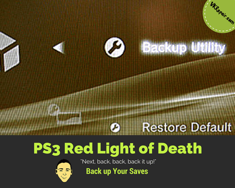 PS3 red blinking light back up hard drive