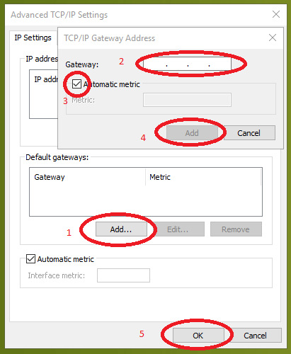 advanced TCP IP settings