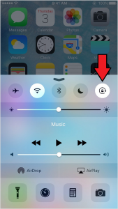rotate screen iphone how to enable and disable screen rotation in iphone 12905