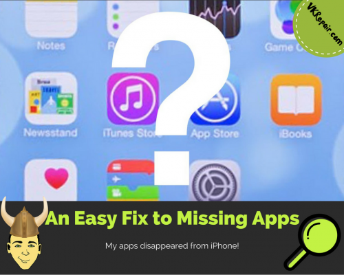 apps disappeared from iPhone