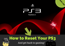 how to reset PS3