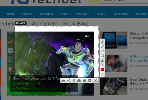 lightshot takes screenshot