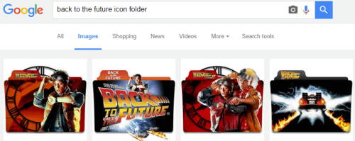back to the future folder icon search