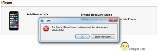 iPhone 6 error 53 solution