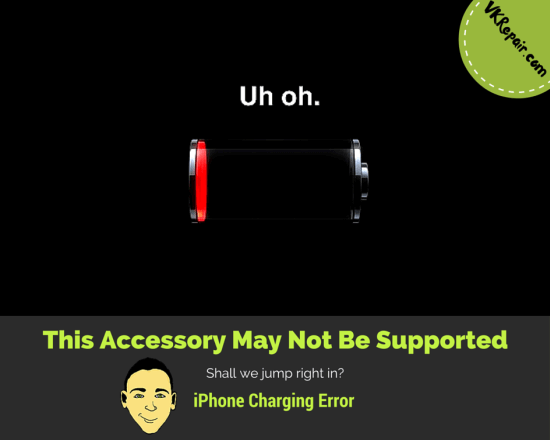 iPhone this accessory may not be supported