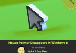 mouse pointer disappears Windows 8