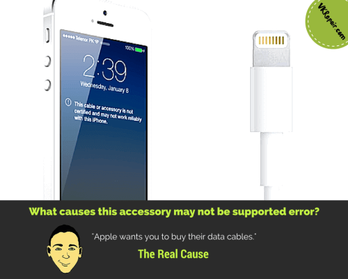 this accessory may not be supported iPhone 5