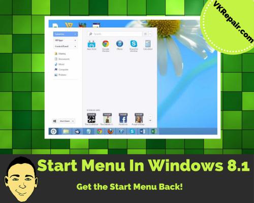 enable start menu windows 8.1 tutorial