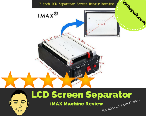 imax LCD screen separator machine