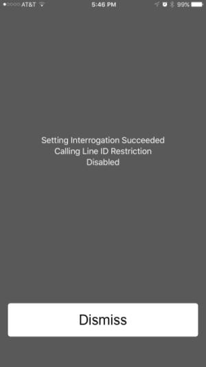Caller id hidden iPhone
