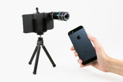 iPhone external lens
