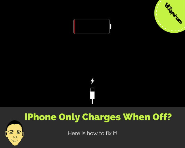 iPhone only charges when off