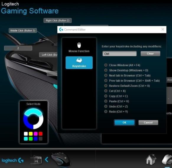 Logitech G300s gaming software