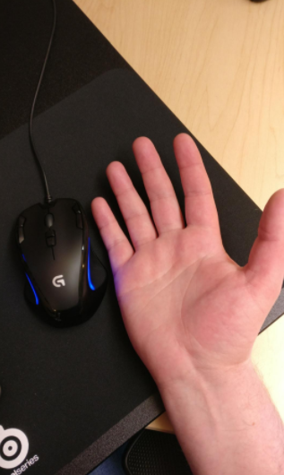 Logitech G300s not for big hands