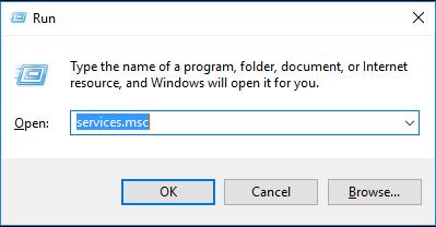 services msc run command