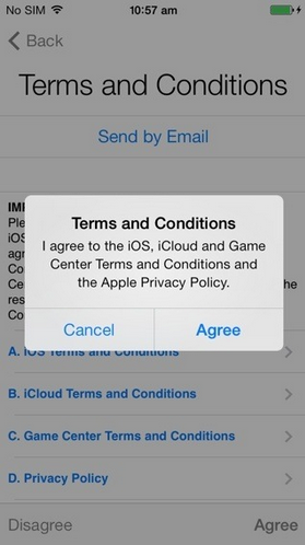 terms and conditions Apple agree