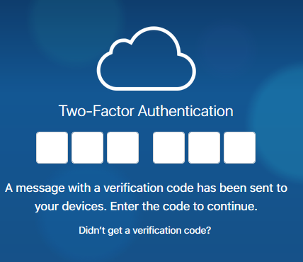 two factor authentication iCloud