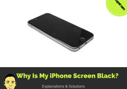 why is my iPhone screen black?