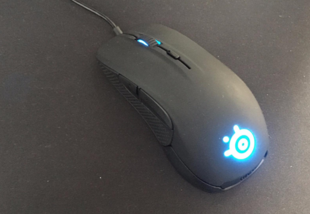 SteelSeries Rival 300 fingertip grip mouse